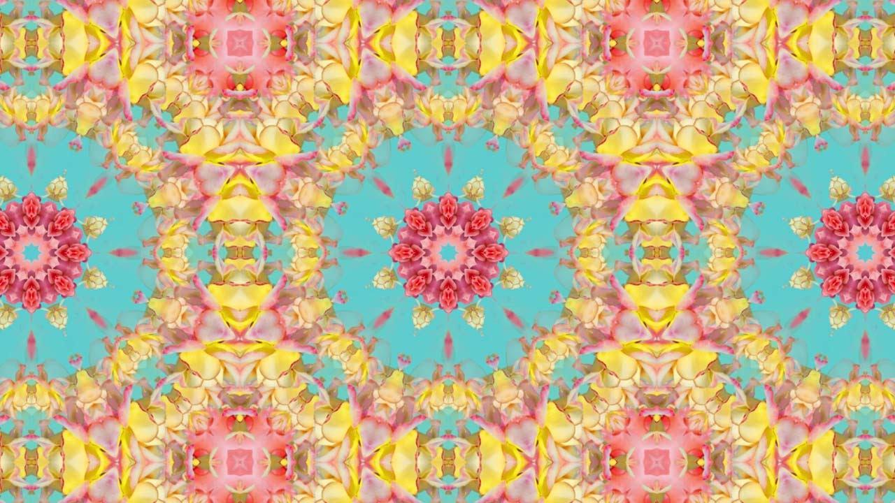 Pattern Wallpaper Hd Kaleidoscope Background Loop Vintage Floral Pattern