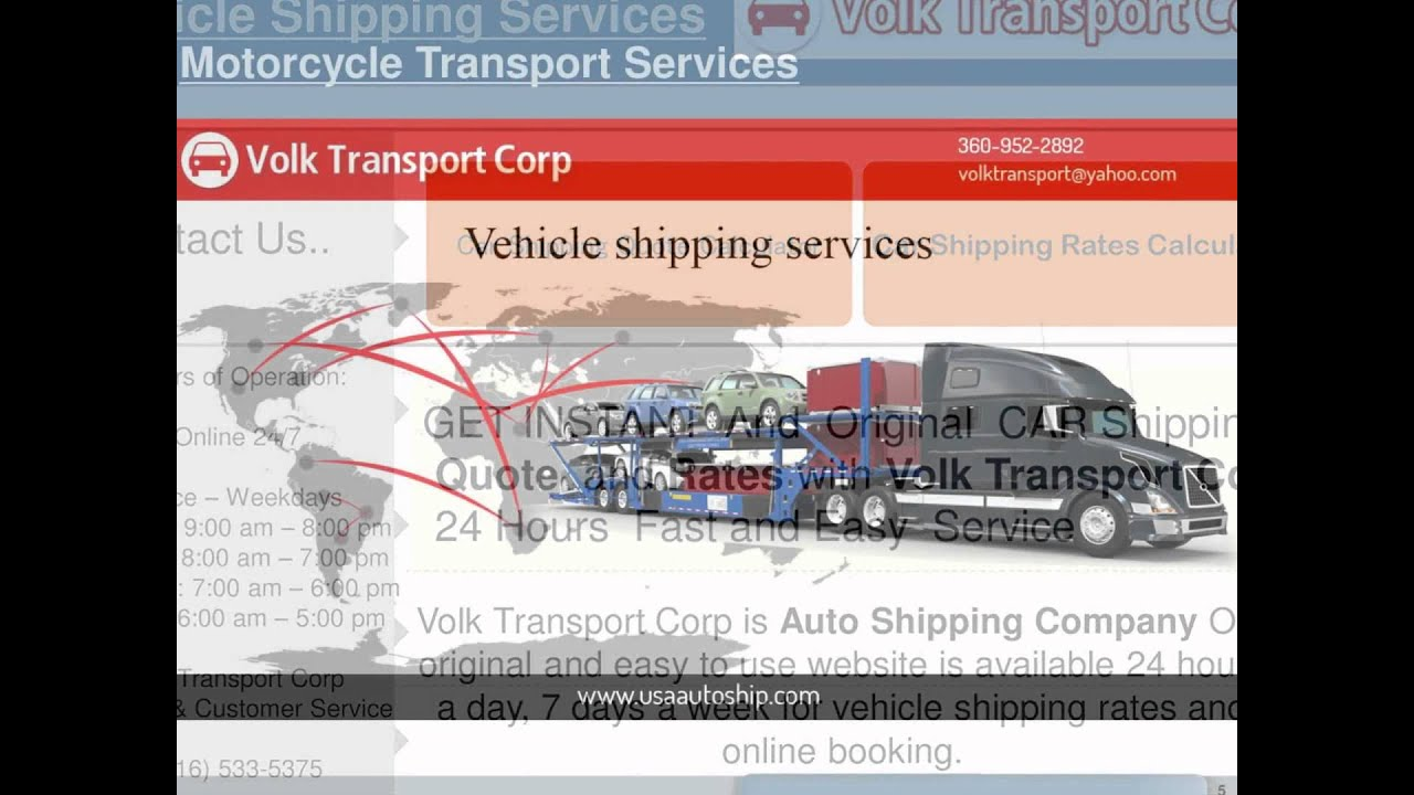 Car Shipping Quote Rates Calculator Auto Company