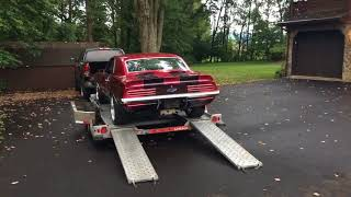 Our 69 camaro delivery