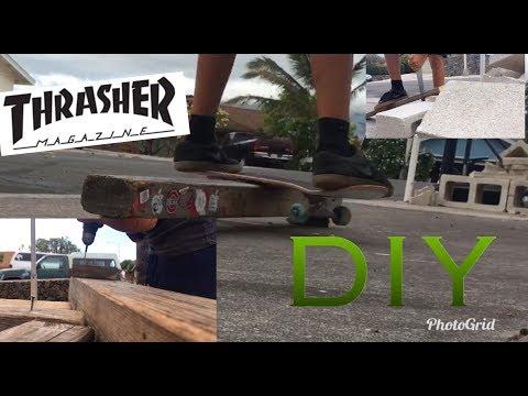 DIY SKATE GRIND RAIL!!!!!