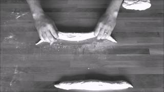 Baguettes formen und einschneiden