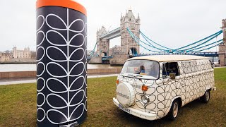 The Orla Kiely Bin by Brabantia goes insanely larger than life!