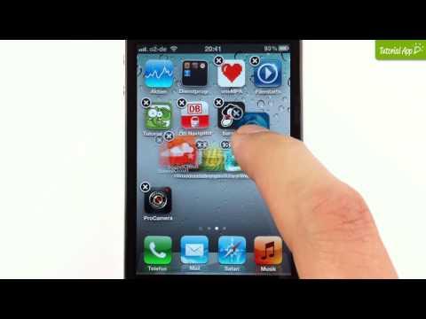iPhone Tutorial Apps löschen & Ordner erstellen