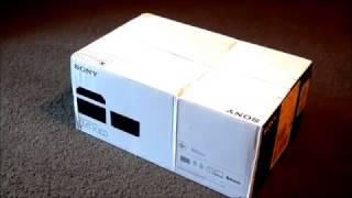 Sony CMT-X3CD bluetooth speaker unboxing and test