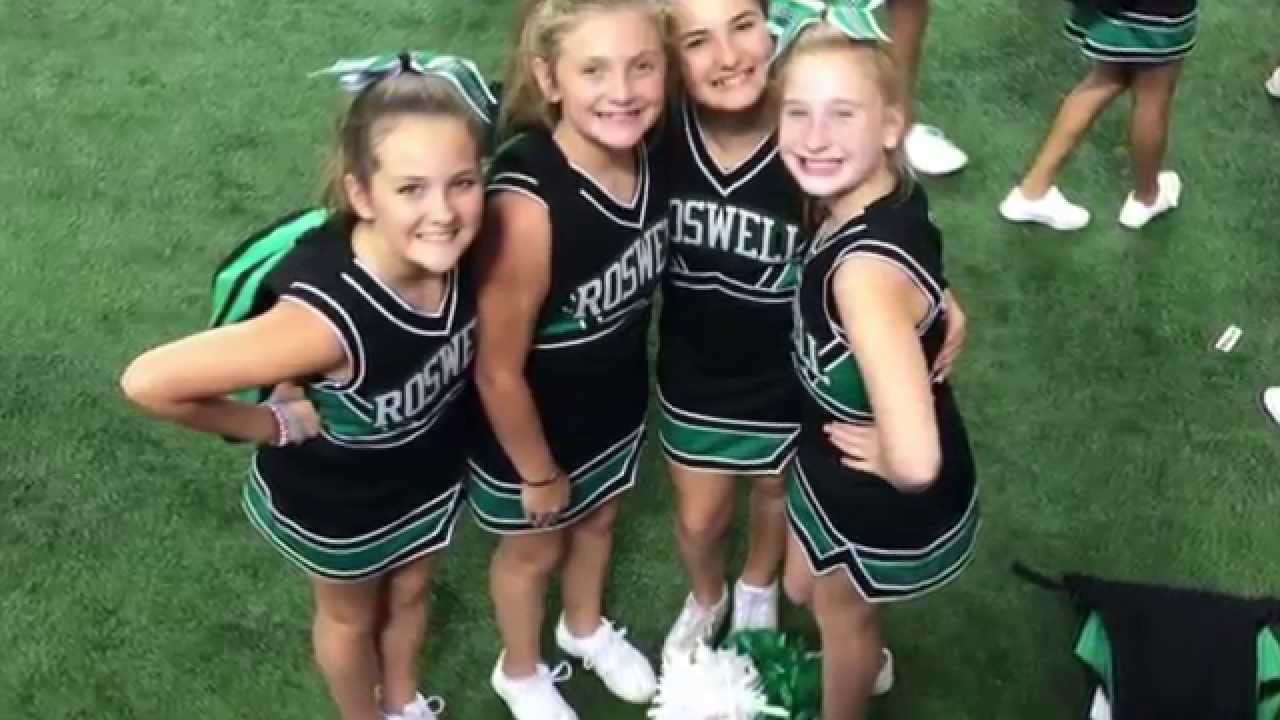 Roswell Jr. Hornets 6th Grade Sideline Team Cheer Banquet Video - YouTube