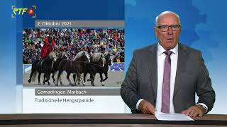 Hengstparade im Haupt- und Landgestüt Marbach