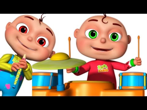 Five Little Babies Playing Music | Five Little Babies Collec