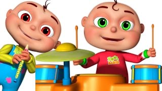Five Little Babies Playing Music | Five Little Babies Collection | Learn Musical Instruments