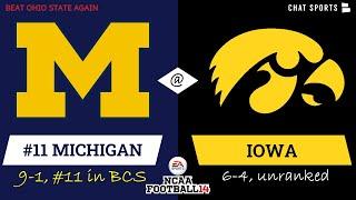Michigan Football (#11) @ Iowa 2020 Season w/ Updated Rosters On NCAA14 | Game 11