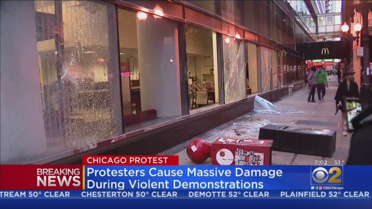Protesters Cause Massive Damage During Violent Demonstrations ...