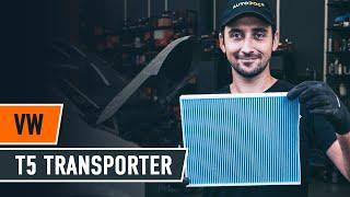 VW TRANSPORTER Oro filtras, keleivio vieta keitimas: instrukcija
