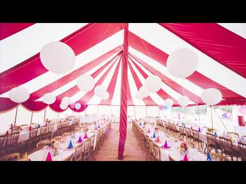 Festival Theme Weddings | Bigtopmania present our Strawberries & Cream marquees for hire | Bristol