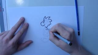 How to draw Chuck from Chicken Wings
