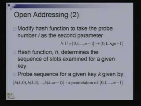 Lecture - 5 Hashing