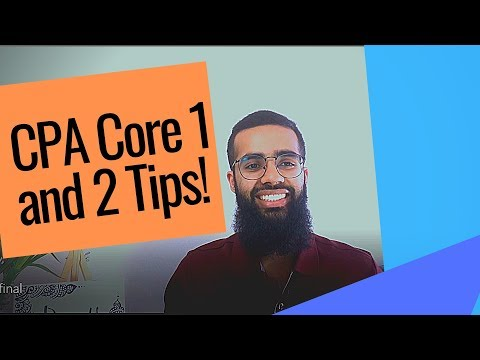 CPA Core 1 And Core 2 Tips I Exam Prep Advice I Weekly Study Routine