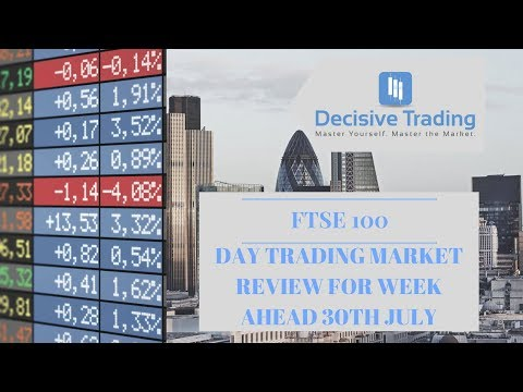 Day Trading Market Review FTSE 100 For Trading Week Ahead 30th July