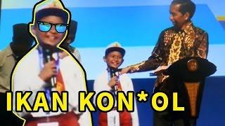 Video NGAKAK !! , Bocah ini salah ngomong nama ikan TONGKOL di depan Presiden download MP3, 3GP, MP4, WEBM, AVI, FLV Agustus 2018