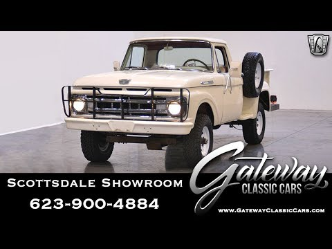 1961 Ford F100 292 CID V8 4 Speed Manual Transmission 4X4 Gateway Classic Cars of Scottsdale #483