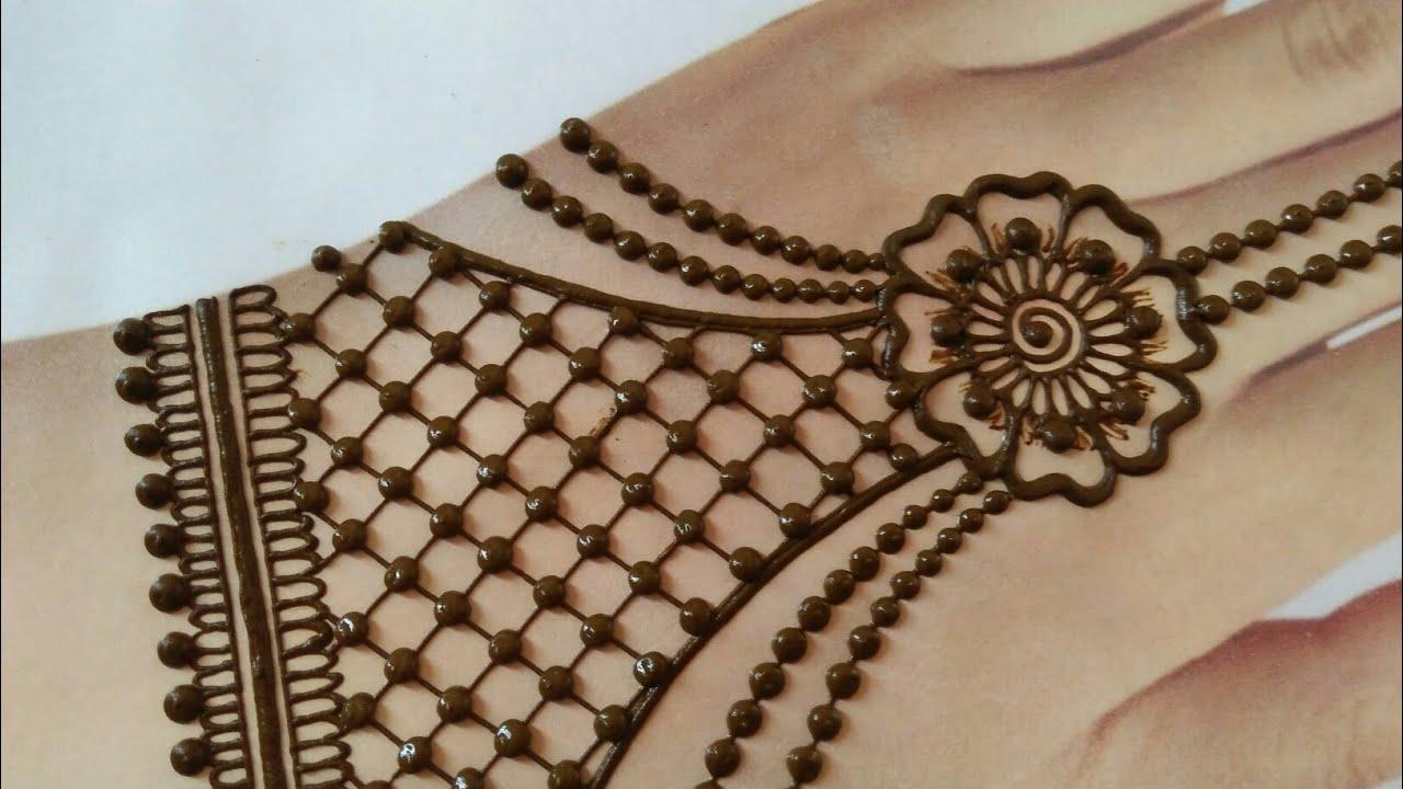 easy chain mehndi design