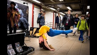 SOFIE DOSSI BREAKS THE 10 MINUTE PHOTO CHALLENGE RECORD IN NYC SUBWAY