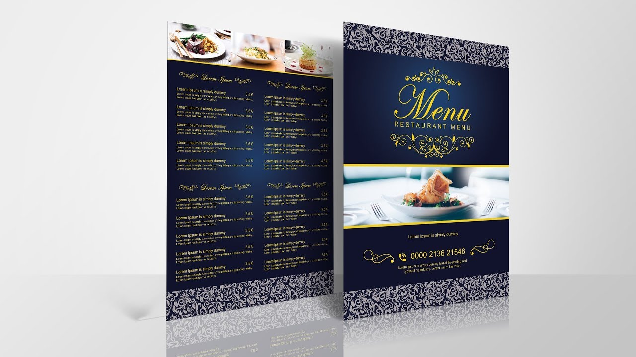 how to create restaurant menu in photoshop youtube