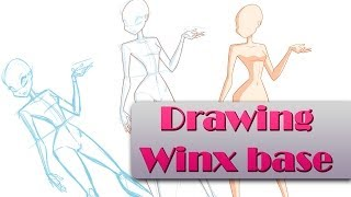 Drawing Winx base - Speedpaint