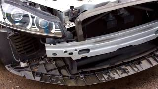 How to remove the front bumper on Jaguar XF 2011 on model.