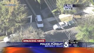 Police Pursuit - Suspected DUI Driver High Speed Pursuit SoCal November 24, 2014