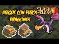 Ataque con puros dragones - Clash of Clans - Guerra de clanes