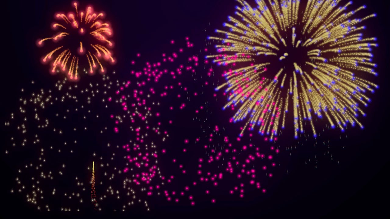free fireworks background loop for new year s 4th of july youtube