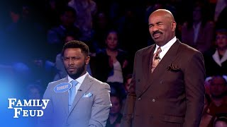 FINAL ANSWER! Robert needs 12 points for $20,000! | Family Feud
