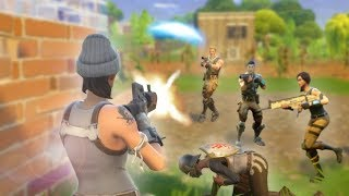 STUCK IN THE MIDDLE OF A WARZONE! *SQUADS WITH RANDOMS!*   Fortnite Battle Royale