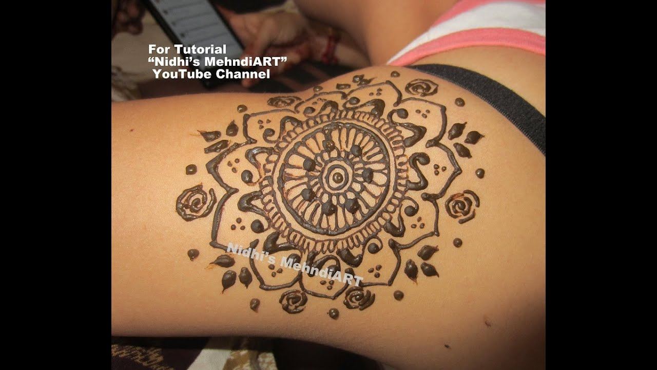 Mandala Circular Design For Shoulder Henna Mehndi Tattoo Tutorial
