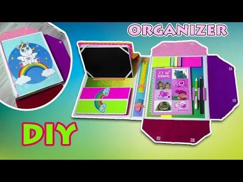 DIY FOLDER ORGANIZER from cardboard/ BACK TO SCHOOL