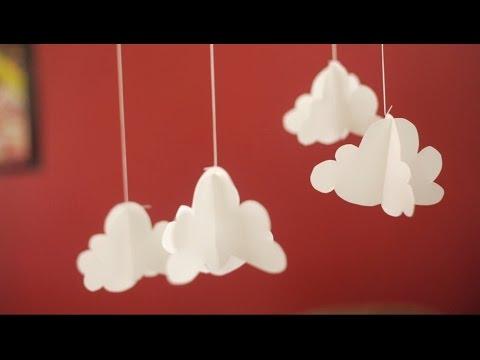 Mvil de nubes en papel  YouTube