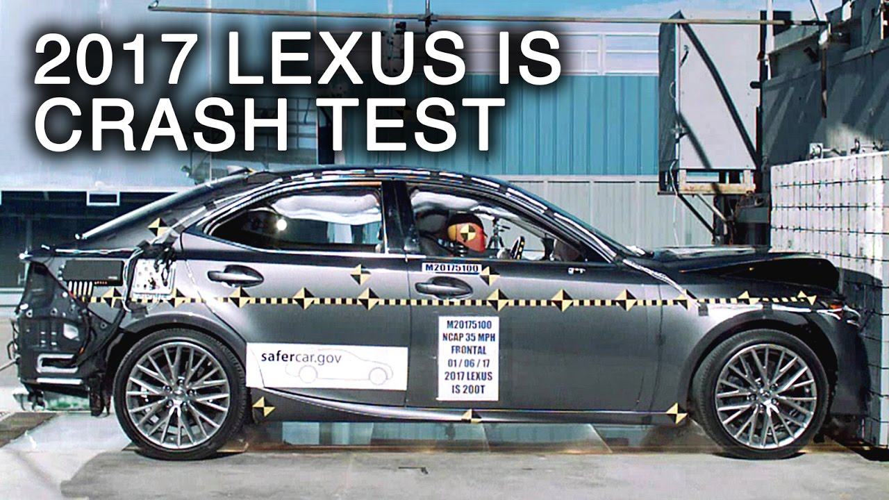 2017 lexus is frontal crash test youtube. Black Bedroom Furniture Sets. Home Design Ideas
