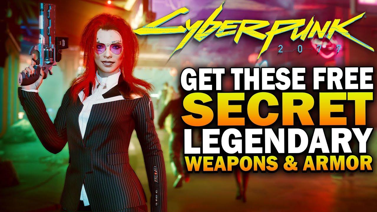 Secret FREE Legendary Weapons & Armor You Need In Cyberpunk 2077