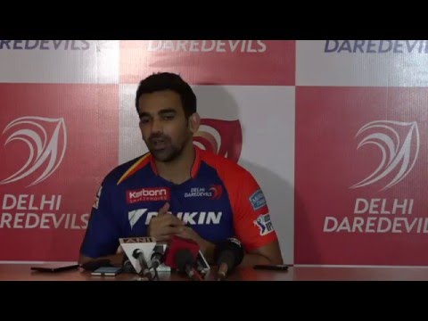 DD new captain Zaheer Khan live from the press conference at Novotel New Delhi Aerocity.