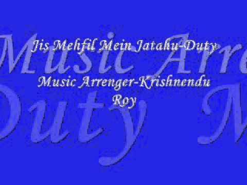 Jis Mehfil Mein Jatahu Full Karaoke Duty