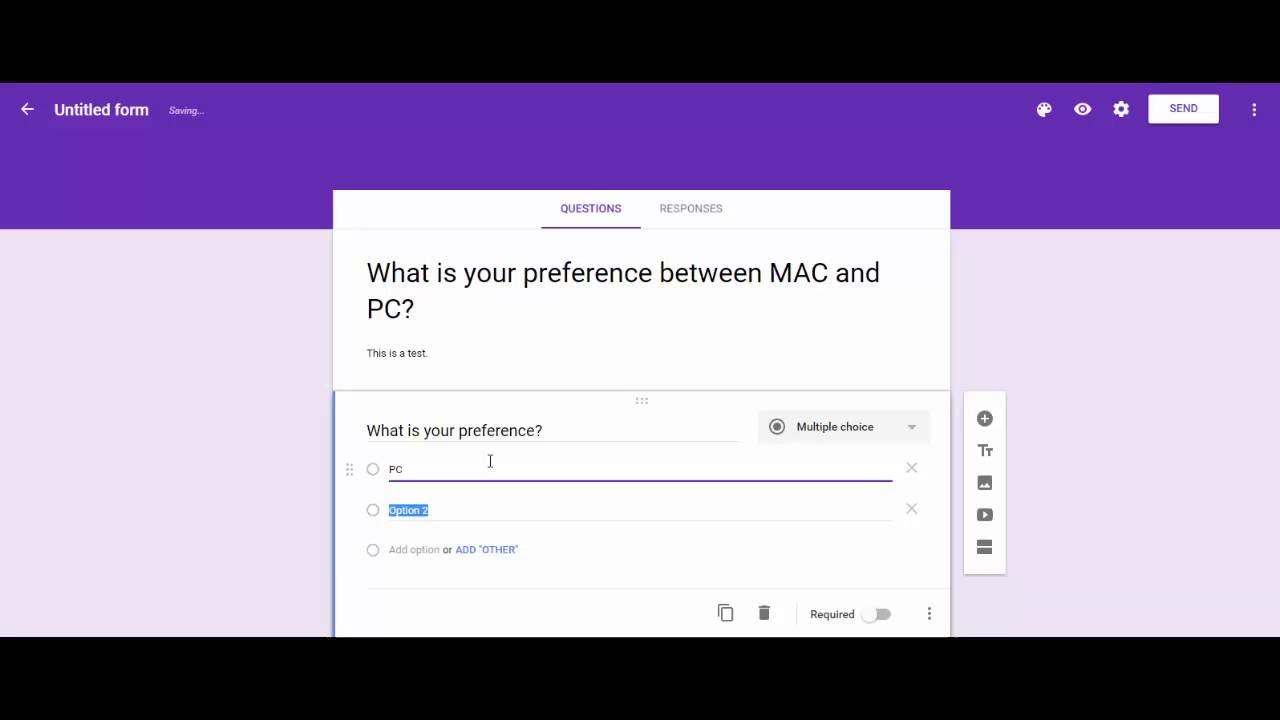 How to Create & Share Google Form - YouTube
