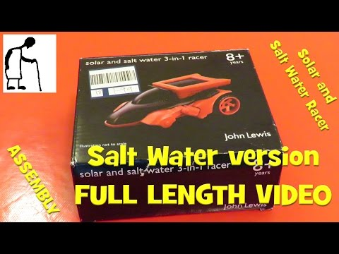 Solar and Salt Water Racer   Salt Water version FULL VIDEO