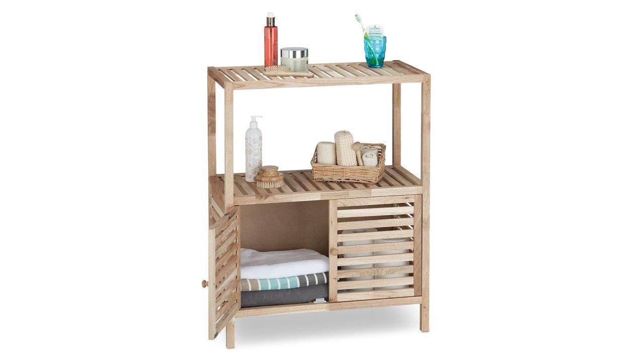 Unglaublich Badschrank Klein Galerie Von Holz Mit 3 Ablagen