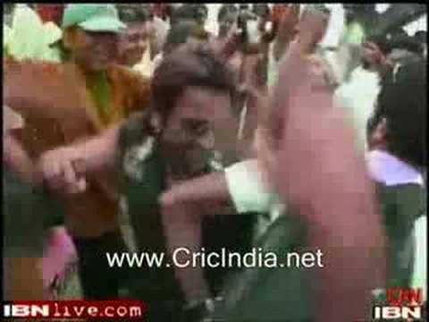 Indian Team Playing Holi in Jamaica