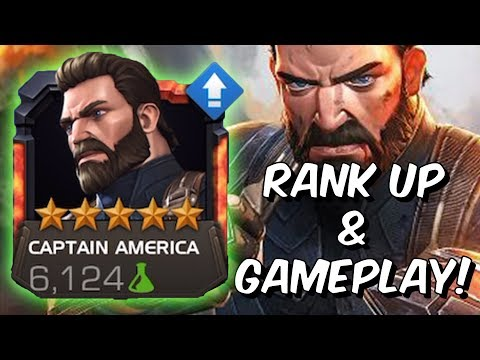 5 Star Captain America Infinity War Rank Up, Abilities & Gameplay - Marvel Contest Of Champions