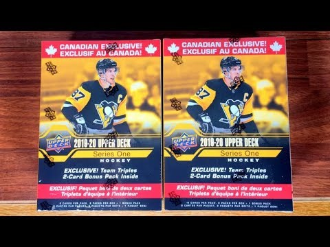 Opening (2) 19/20 Upper Deck Series 1 Team Triples Canadian Exclusive Retail Boxes