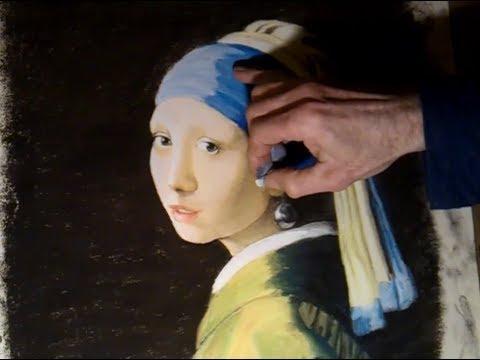 Rekonstruktion eines Meisterwerkes / Vermeer, Mädchen mit Perlohrgehänge/ Girl with pearl earrings.