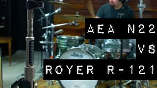 Ribbon Mic Shootout: AEA N22 vs Royer R-121 on Guitar, Drums and Drum Room