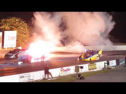 Jet Funny Cars - 2017 Night Of Fire at Lebanon Valley Dragway