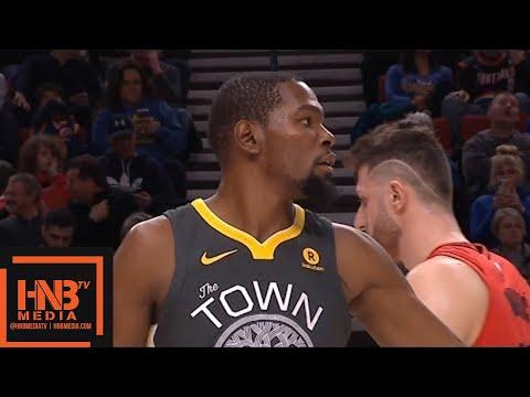 Golden State Warriors vs Portland Trail Blazers 1st Half Highlights / Feb 14 / 2017-18 NBA Season