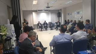 Herzem Gusmão: discurso na Caixa Econômica Federal